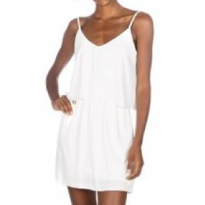 Vestido Curto Abertura Costas Off White Tamanho P