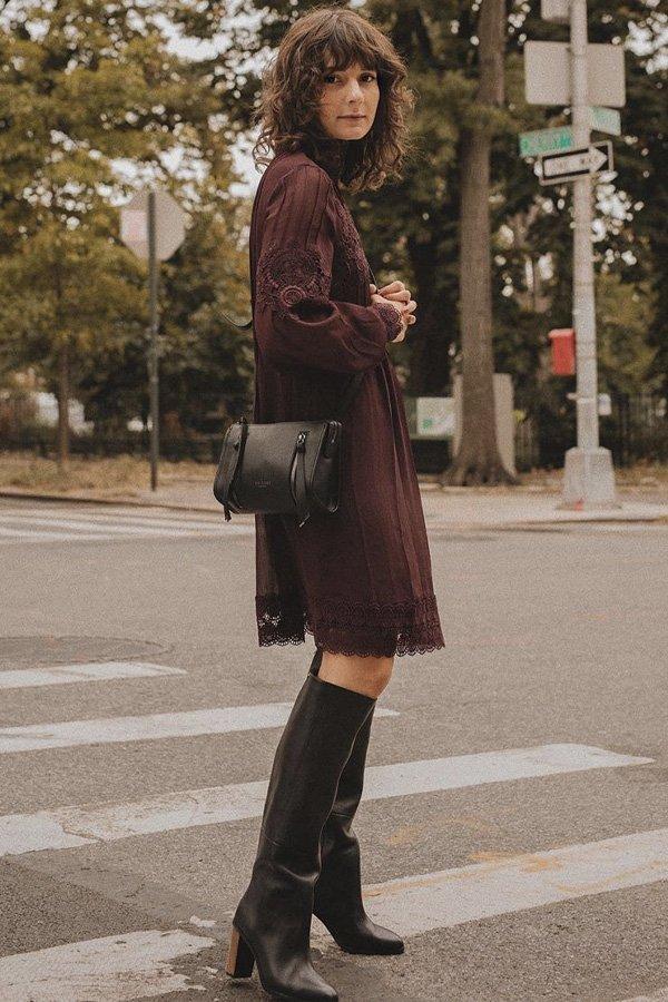 Alyssa Coscarelli - modelos de sapatos - vestidos e sapatos - inverno - street style - https://stealthelook.com.br