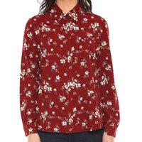 Camisa Facinelli by MOONCITY Floral Vinho