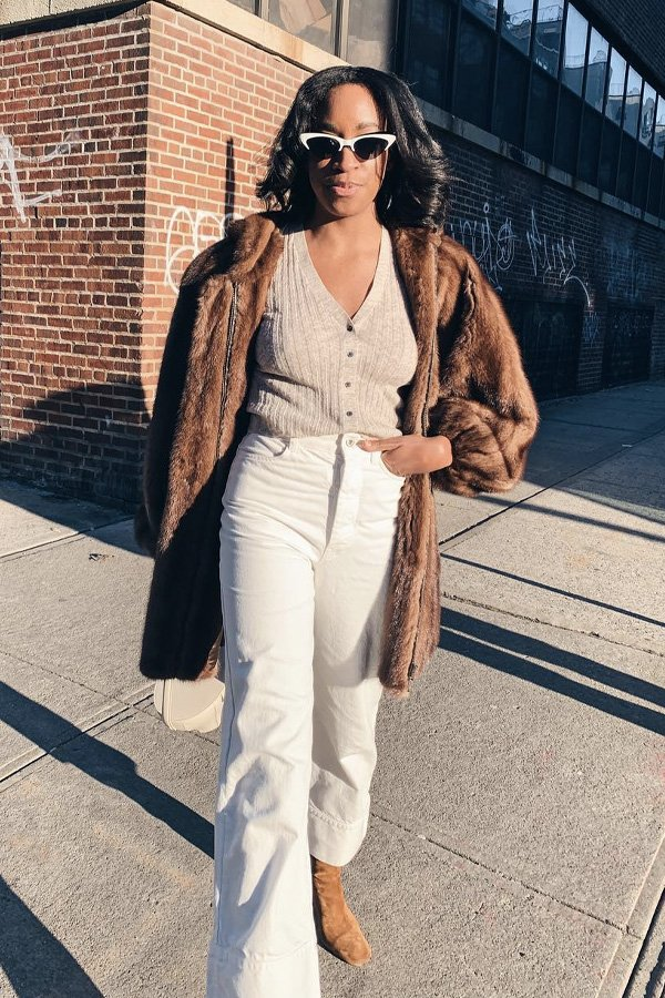 Chrissy Rutherford - blusas básicas - looks de inverno - inverno - street style - https://stealthelook.com.br