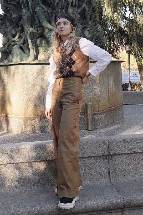 Fanny Ekstrand - colete de tricot - colete - inverno - street style - https://stealthelook.com.br