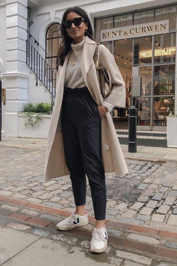 Hannah Desai  - meghan markle - tênis tendência - vert - street style - https://stealthelook.com.br