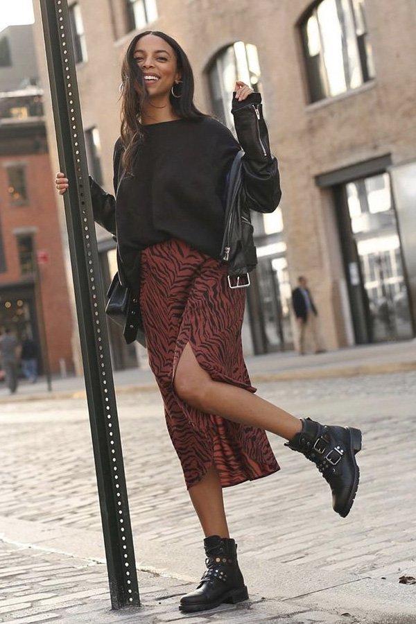 Janelle Marie Lloyd - maneiras de usar coturnos - botas - inverno - street style - https://stealthelook.com.br