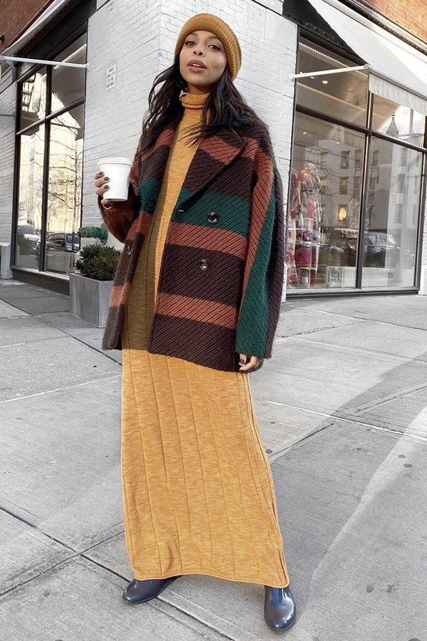 Janelle Marie Lloyd - vestidos longos - looks de inverno - inverno - street style - https://stealthelook.com.br