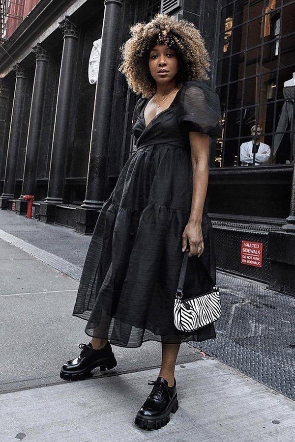 Karen Blanchard - modelos de sapatos - sapatos e vestidos - inverno - street style - https://stealthelook.com.br