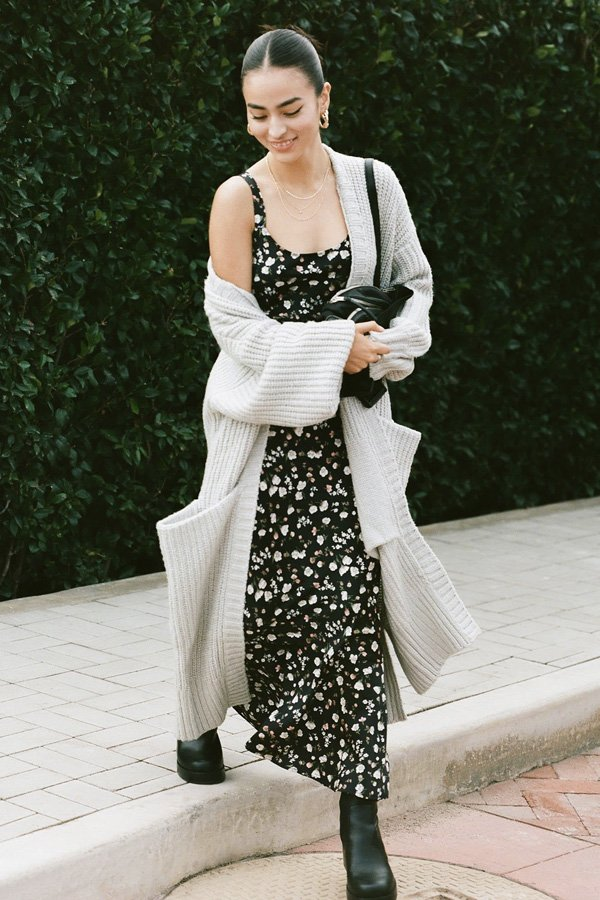 reprodução pinterest - vestidos longos - looks de inverno - inverno - street style - https://stealthelook.com.br