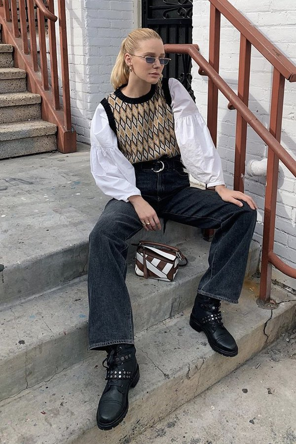 megan adelaide schaefer - colete de tricot - colete - inverno - street style - https://stealthelook.com.br