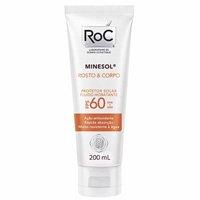 Roc Minesol Rosto & Corpo Fluido Hidratante Fps 60 200ml