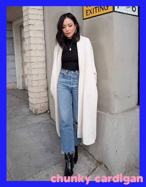 It girls - Chunky cardigan - Tricots - Outono - Street Style - https://stealthelook.com.br