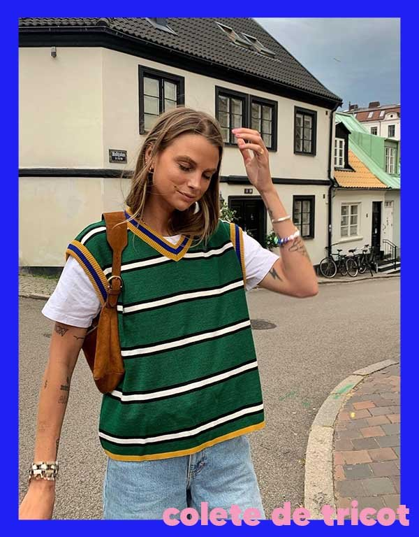 It girls - Colete de tricot - Tricot - Outono - Street Style - https://stealthelook.com.br