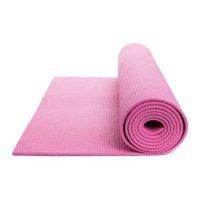 Tapete de Yoga Colchonete Texturizado em PVC 5mm Rosa