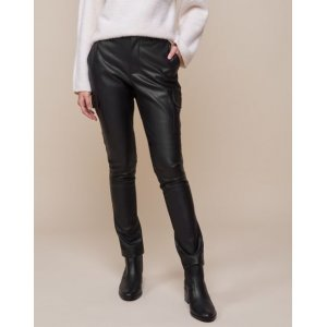 Calça Skinny Leather Bolsos Cargo