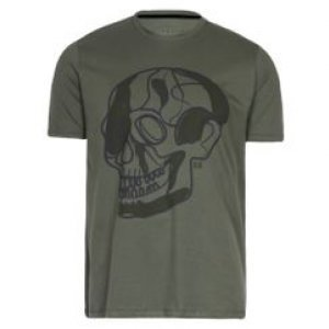Camiseta Masculina Caveira Khelf Militar Tamanho P