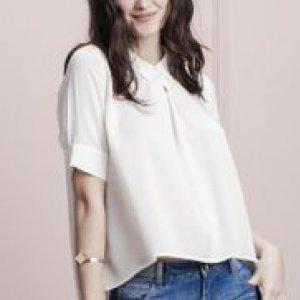 Camisa Feminina Botões Costas Mullet Off White Tamanho P
