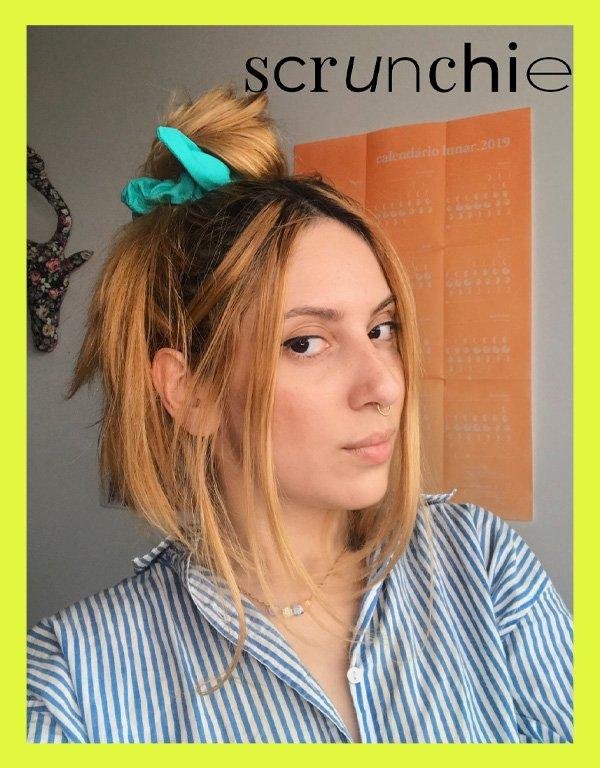 Ali Santos - acessórios de cabelo - scrunchies - inverno - em casa - https://stealthelook.com.br