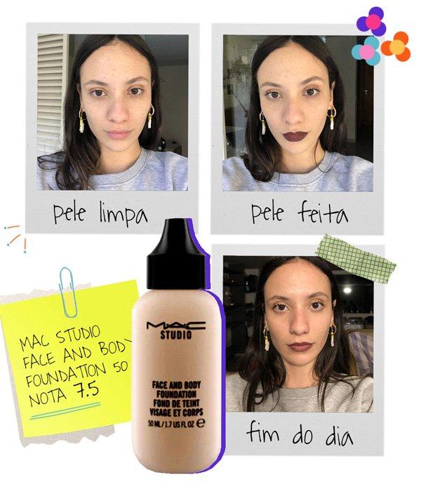 Jéssica Menasce - bases-da-mac - beleza - inverno - em-casa - https://stealthelook.com.br