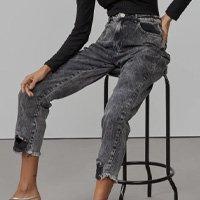 Calça Jeans Slim Puídos Na Barra