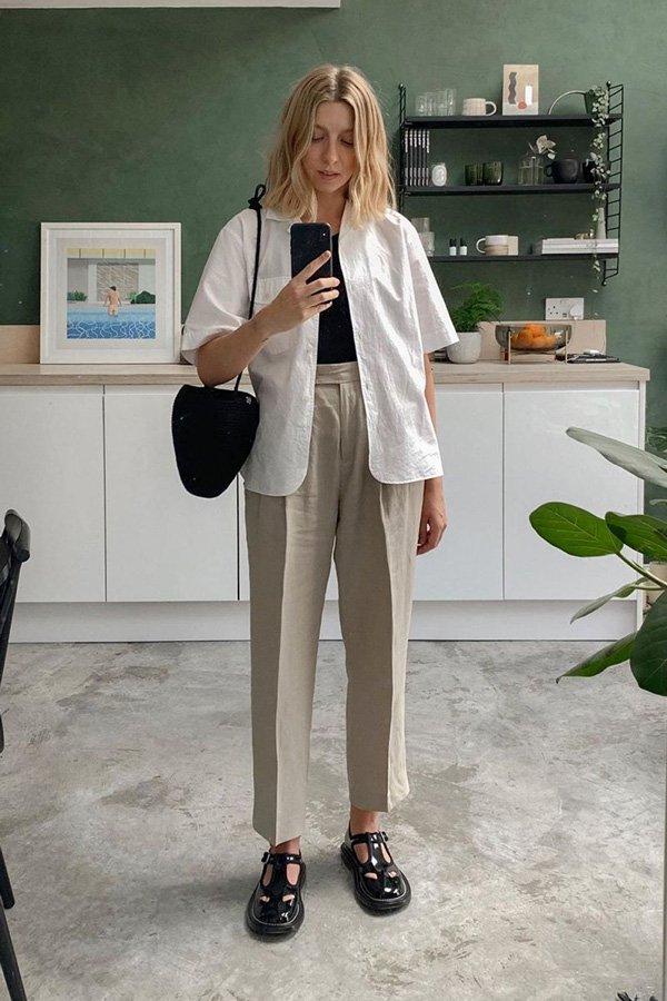 Pinsterest - Calça de alfaiataria  - Calça de alfaiataria - verão  - em casa  - https://stealthelook.com.br