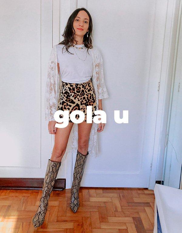 It girls - Camiseta branca - Gola u - Inverno - Street Style - https://stealthelook.com.br