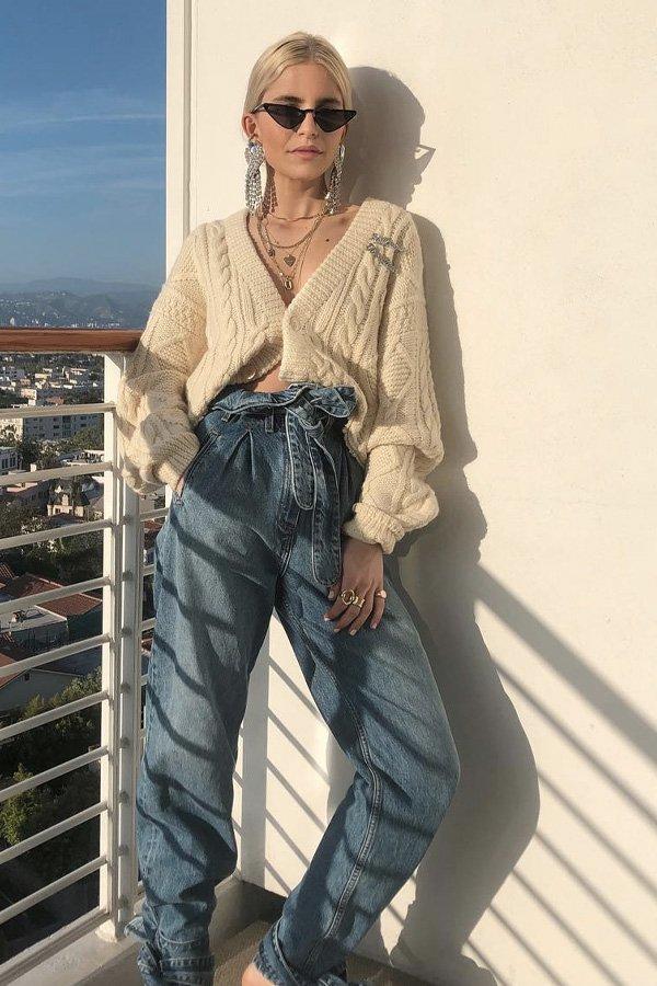 Caroline Daur - tricot básico - cardigans e suéteres - inverno - street style - https://stealthelook.com.br