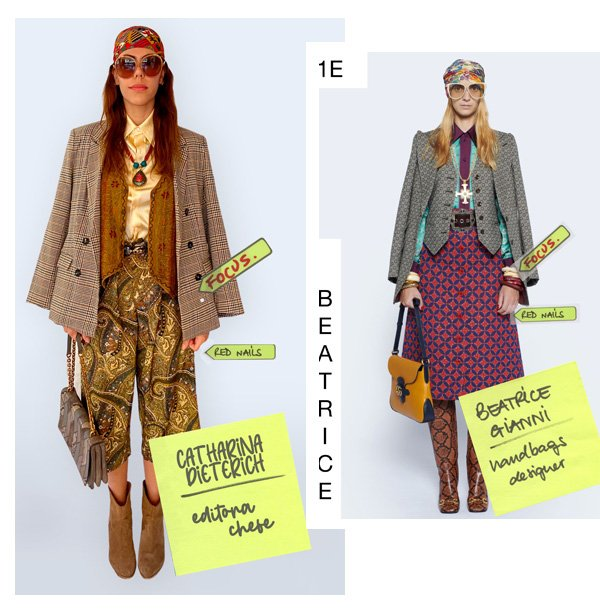 Catharina Dieterich, Beatrice Gianni - looks do desfile da gucci - gucci - inverno - street style - https://stealthelook.com.br