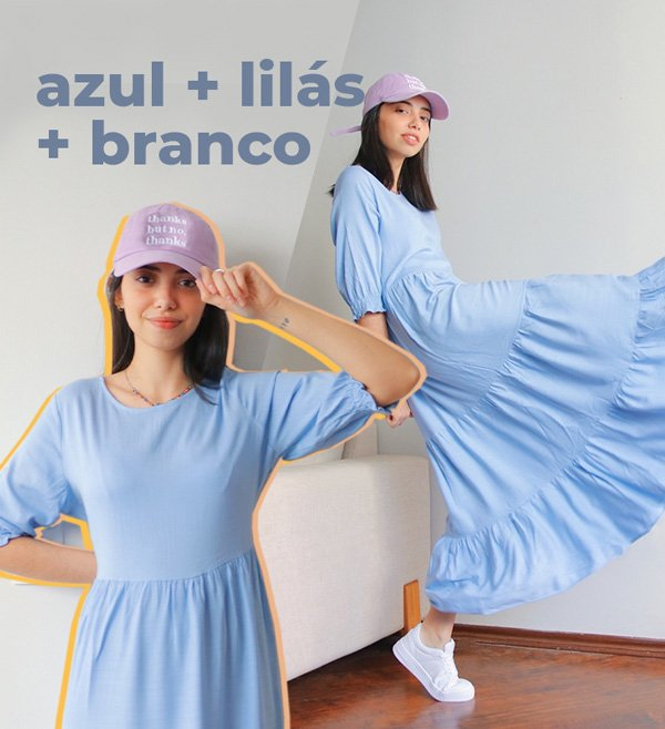 Giovana Marçon - vestido-azul - cores - inverno - em-casa - https://stealthelook.com.br