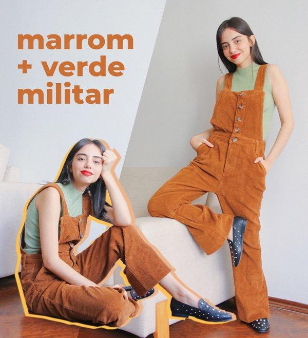 Giovana Marçon - macacao-marrom - cores - inverno - em-casa - https://stealthelook.com.br