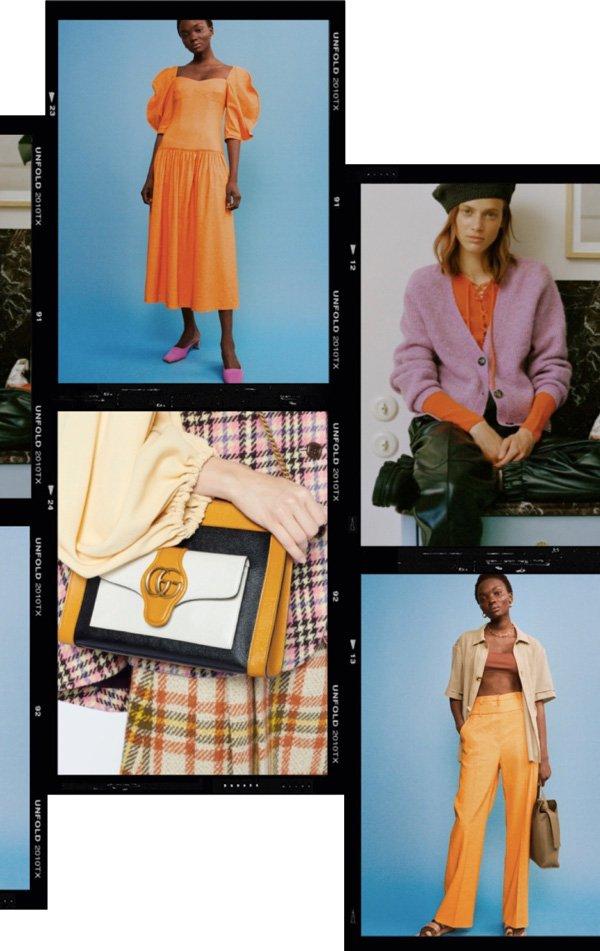 modelo - laranja - laranja - inverno - fashion-week - https://stealthelook.com.br