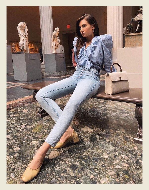 Danielle Bernstein - tendência da alta costura - babados - inverno - street style - https://stealthelook.com.br