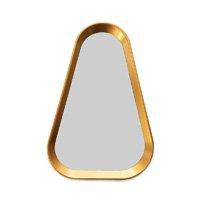 Espelho Triângulo com Moldura Dourada 38x25 cm - D\'Rossi
