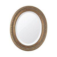 Espelho Oval Bisotê Ouro Envelhecido