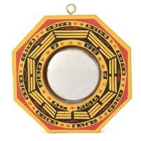Chinês Côncavo Bagua Feng Shui Espelho Taoista Talismã Energia Sorte Decoração Para Casa Decoração Da Parede Sala Quarto 106mmx106mm