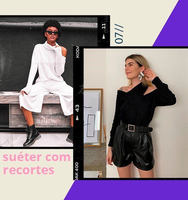 It girls - Suéter recortes - Essenciais do inverno - Inverno - Street Style - https://stealthelook.com.br
