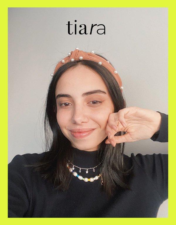 Giovana Marçon - acessórios de cabelo - tiaras - inverno - em casa - https://stealthelook.com.br
