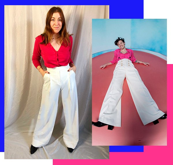 It girls - Calça wide leg - Harry Styles - Inverno - Street Style - https://stealthelook.com.br