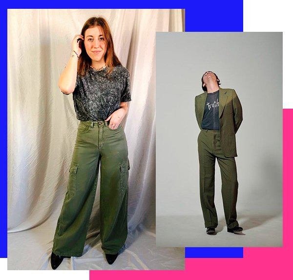 It girls - Calça verde militar - Harry Styles - Inverno - Street Style - https://stealthelook.com.br