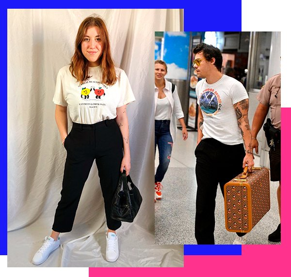 It girls - Calça alfaiataria - Harry Styles - Inverno - Street Style - https://stealthelook.com.br