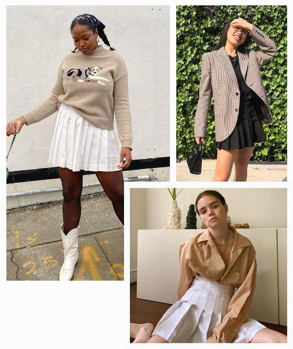 Imani Randolph, Miso Dam, Reese Blutstein - Zoë Kravitz - saia plissada - inverno - street style - https://stealthelook.com.br