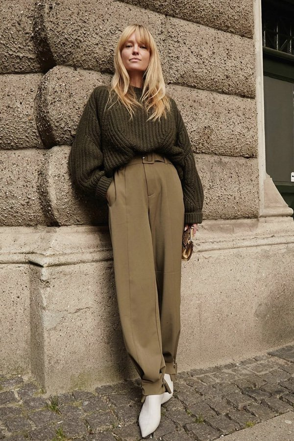 Jeanette Madsen - tricot básico - cardigans e suéteres - inverno - street style - https://stealthelook.com.br