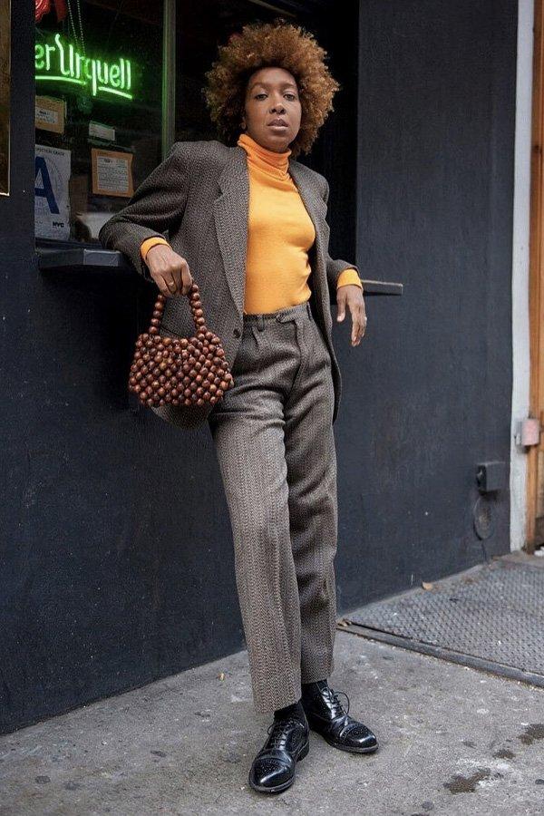 Karen Blanchard - calças básicas - básicos - inverno - street style - https://stealthelook.com.br
