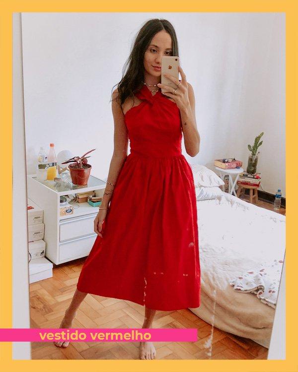 Jéssica Menasce - vestido-vermelho - vermelho - inverno - em-casa - https://stealthelook.com.br