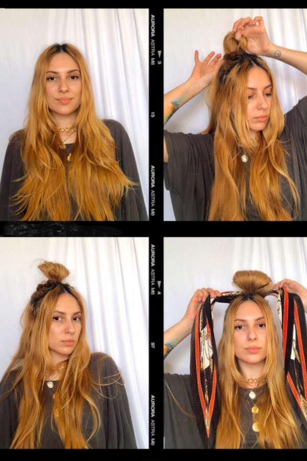 Ali Santos  - Lenço no cabelo  - lenços  - verão  - em casa  - https://stealthelook.com.br