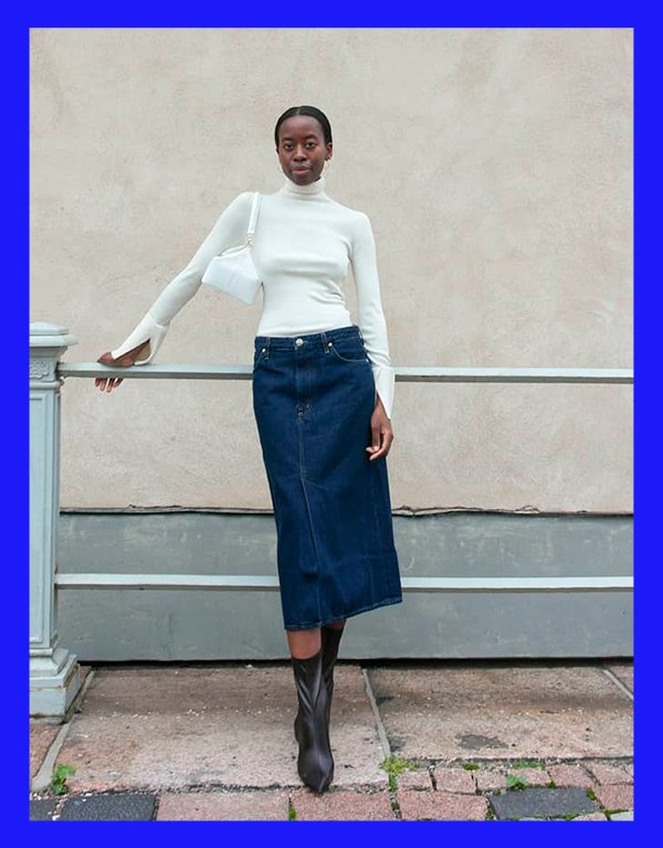 It girls - Saia jeans - Saia jeans - Inverno - Street Style - https://stealthelook.com.br