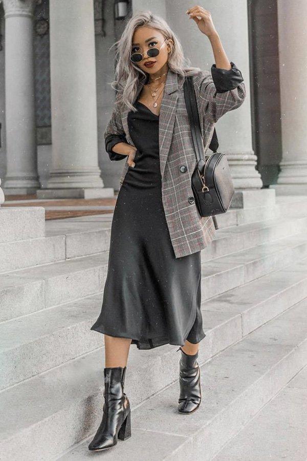 reprodução pinterest - modelos de sapatos - slipdress - inverno - street style - https://stealthelook.com.br