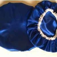 Touca de Cetim (Azul Royal)