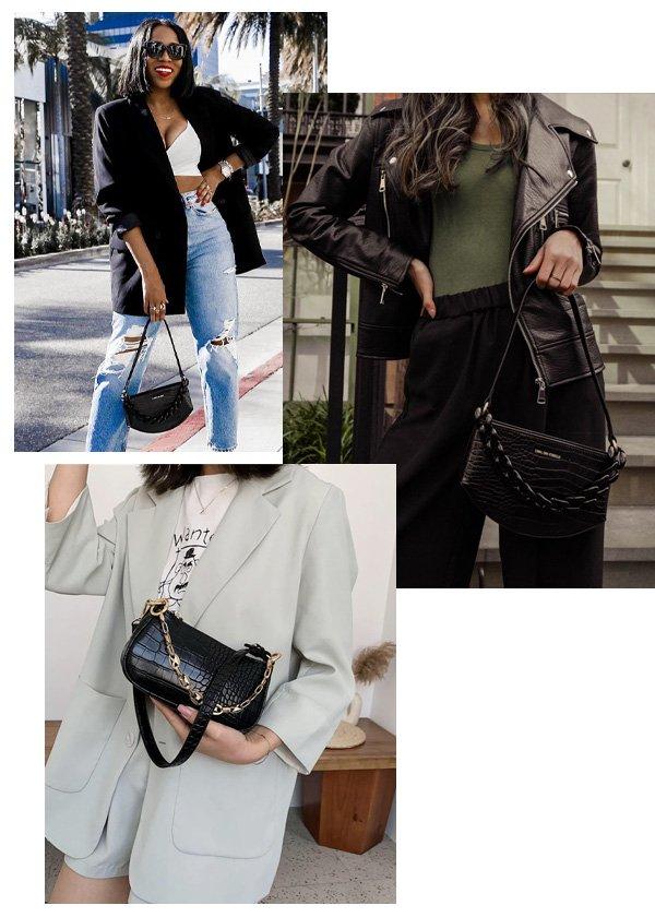 Tania Cascilla, Yuyan - bolsa trendy - bolsa baguette - inverno - street style - https://stealthelook.com.br