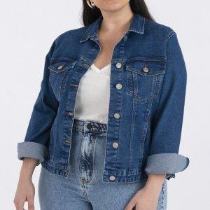 Jaqueta Jeans Confort Curve & Plus Size