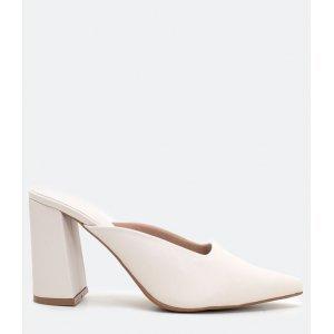 Sapato Mule Feminino Salto Alto Satinato