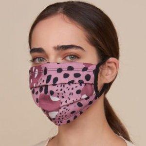 Mascara Estampada Com 2 Camadas De Tecido