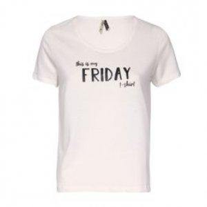 Camiseta Feminina Friday Off White Tamanho P